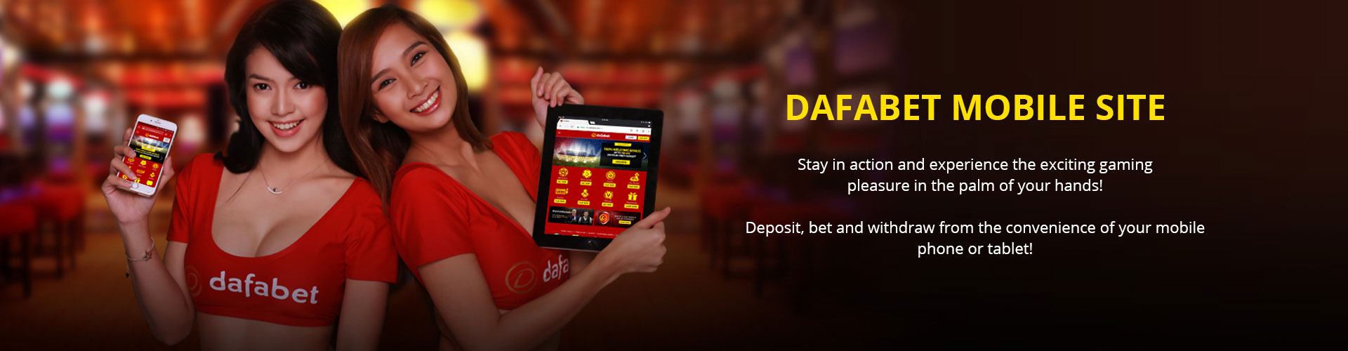 Bet and win anywhere with your mobile device!